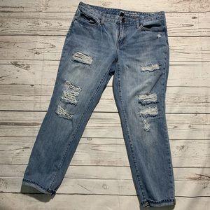 Gap Factory distressed boyfriend jeans